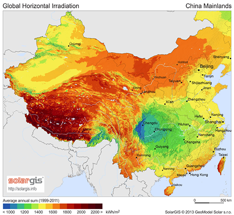 The Future Of Chinas Solar Thermal Power Generation And ChinaUS - Solar power map us